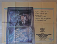 Farewell My Lovely, Original UK Quad Poster, Robert Mitchum, CHANDLER, '75